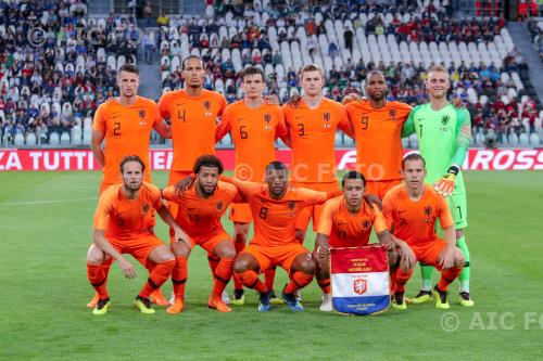 Virgil van Dijk    Marten de Roon    Matthijs de Ligt    Ryan Babel    Memphis Depay    Ruud Vormer    Team Netherlands final match between  Italy 1-1  Netherlands