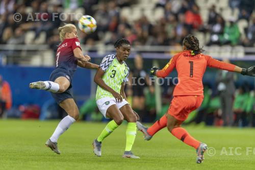 Norway Osinachi Ohale Nigeria Tochukwu Oluehi Auguste Delaune final match between Norway 3-0 Nigeria Reims, France.