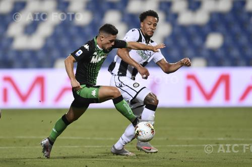 Sassuolo William Troost-Ekong Udinese 2020 Reggio Emilia, Italy