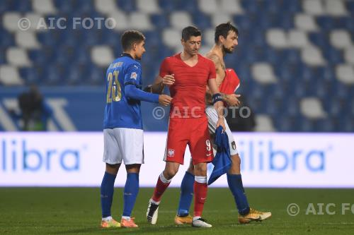 Italy Robert Lewandowski Poland Francesco Acerbi Mapei final match between Italy 2-0 Poland Reggio Emilia, Italy.